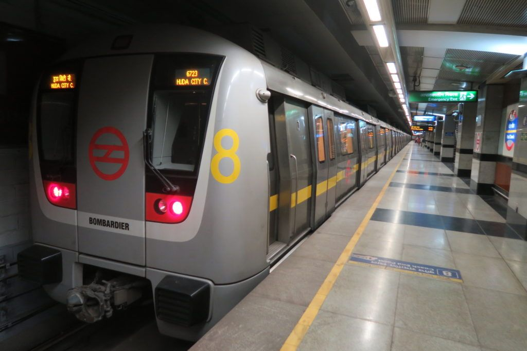 Metro in New Delhi