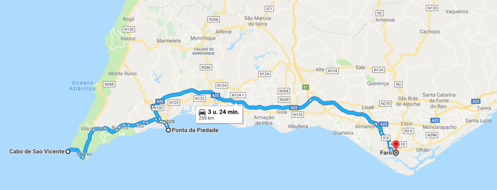 Roadtrip Algarve 1 dag